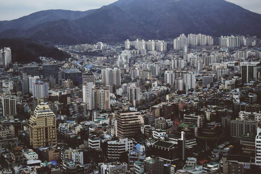 フリー写真 韓国釜山広域市の街並み