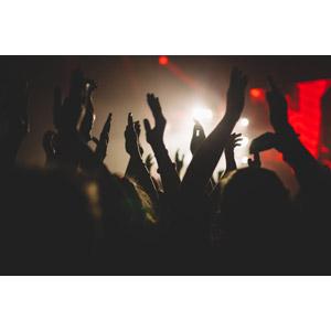 フリー写真, 人物, 人込み(人混み), 観客, 音楽, コンサート(ライブ), 手