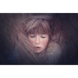 フリー写真, 人物, 子供, 女の子, 外国の女の子, 女の子(00034), 目を閉じる, 顔