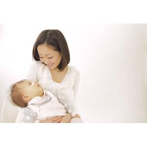 フリー写真, 人物, 親子, お母さん(母親), 子供, 赤ちゃん, 二人, 女性(00015), 日本人