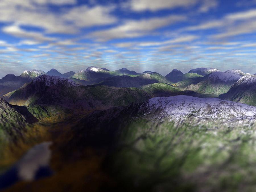 フリー写真 山脈の風景