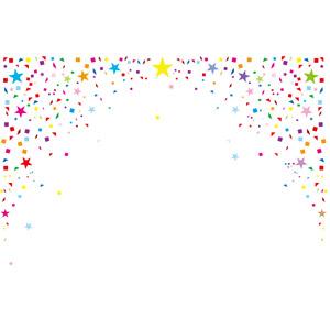 フリーイラスト, ベクター画像, AI, 背景, 紙吹雪, カラフル, パーティー, 星(スター)