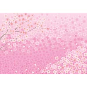 フリーイラスト, ベクター画像, AI, 背景, 花, 桜(サクラ), ピンク色, ピンク色の花, 春
