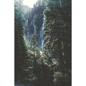 フリー写真, 風景, 自然, 滝, 樹木, アメリカの風景, コロラド州