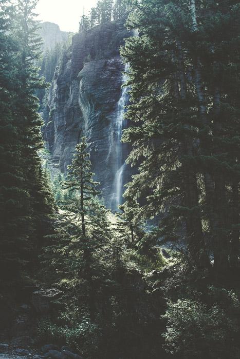 フリー写真 テルライドの滝の風景