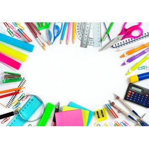 フリー写真, 背景, フレーム, 囲みフレーム, 学校, 教育, 文房具, 画材