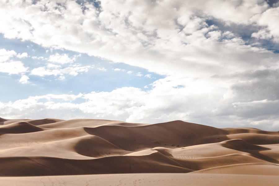 フリー写真 ホワイトサンズ国定記念物の風景