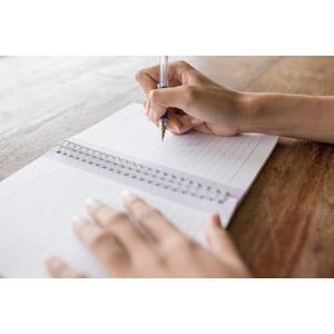 フリー写真, 人体, 手, 書く, ノート