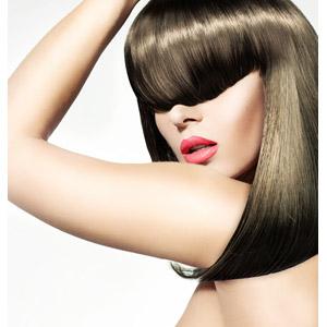フリー写真, 人物, 女性, 外国人女性, 髪の毛, ヘアケア, 美容, 白背景, 目を覆う