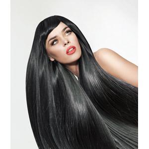 フリー写真, 人物, 女性, 外国人女性, 見上げる(上を向く), 髪の毛, ヘアケア, 美容, 白背景