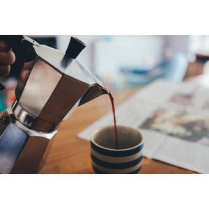 フリー写真, 調理器具, エスプレッソメーカー, 飲み物(飲料), コーヒー