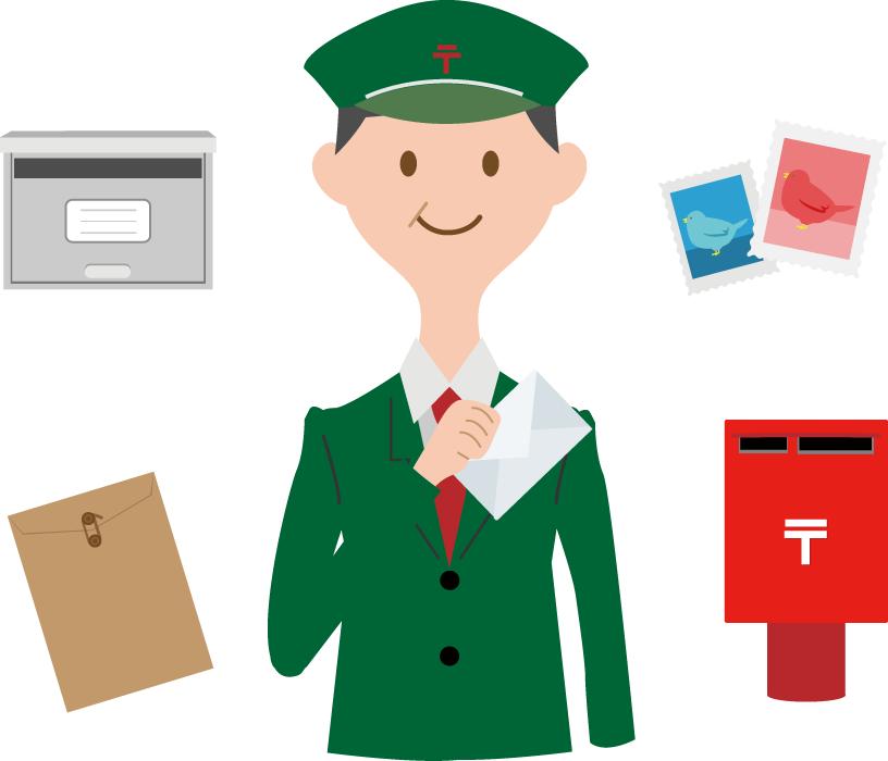 フリーイラスト 5種類の郵便のセット