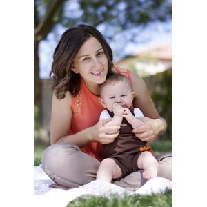 フリー写真, 人物, 親子, 母親(お母さん), 子供, 赤ちゃん, 二人, あぐらをかく