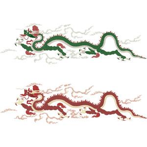 フリーイラスト, ベクター画像, AI, 龍(竜), 神話・伝説の生物, 辰年