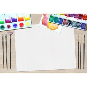 フリー写真, 背景, フレーム, 囲みフレーム, 画材, パレット, 絵筆(画筆), 絵の具, 画用紙