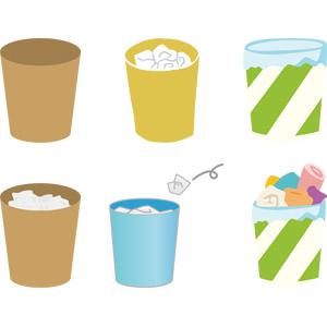 フリーイラスト, ベクター画像, AI, ゴミ, ゴミ箱