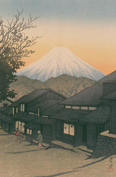 フリー絵画 川瀬巴水作「東海道風景選集 駿河由比町」