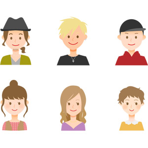 フリーイラスト, ベクター画像, AI, 人物, 男性, 女性, 帽子