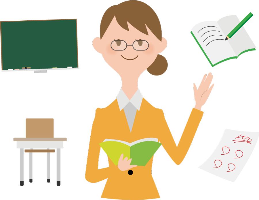 フリーイラスト 教師と学校関連のセット