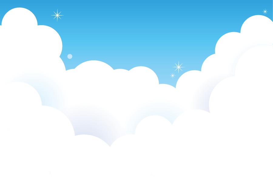 フリーイラスト 夏の雲と青空の風景