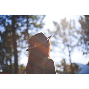 フリー写真, 人物, 女性, 外国人女性, 帽子, 人と風景