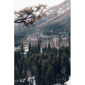 フリー写真, 風景, 建造物, 建築物, ホテル, カナダの風景, アルバータ州