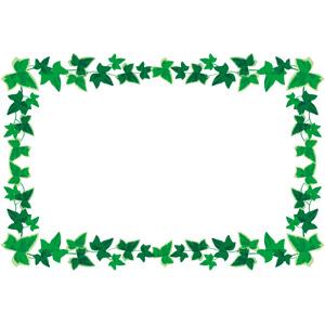 フリーイラスト, ベクター画像, EPS, 背景, フレーム, 囲みフレーム, 植物, 蔦(ツタ), 葉っぱ