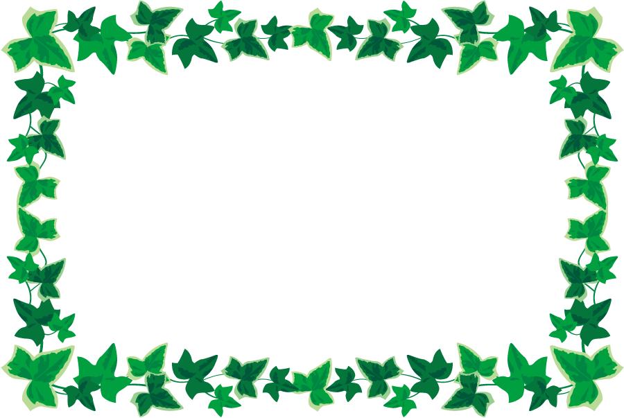 フリーイラスト アイビーの飾り枠