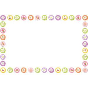 フリーイラスト, ベクター画像, EPS, 背景, フレーム, 囲みフレーム, 食べ物(食料), 菓子, 和菓子, 組み飴, 飴(キャンディ)