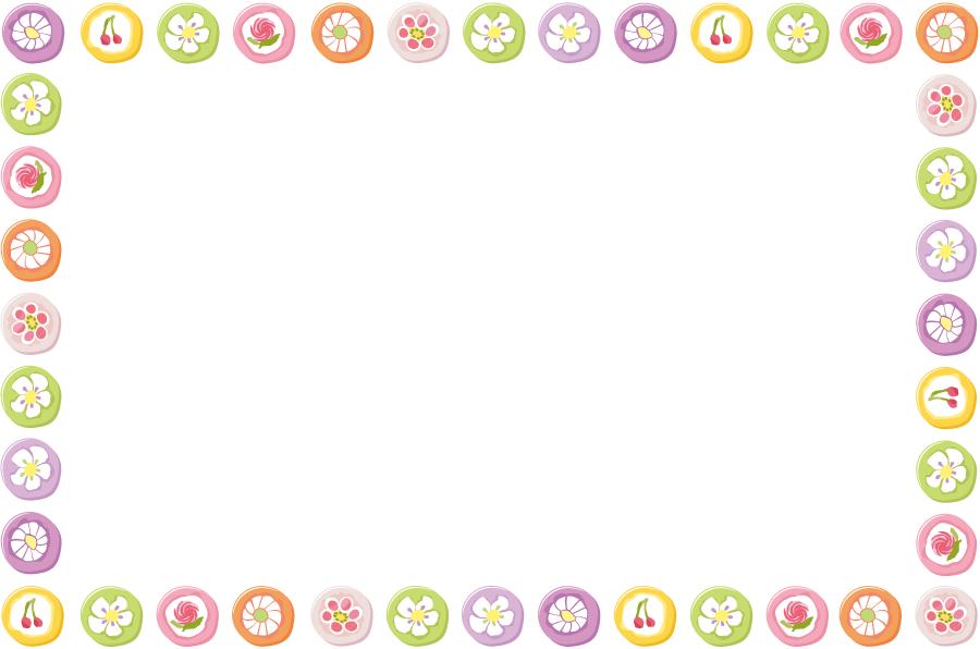 フリーイラスト 組み飴の飾り枠