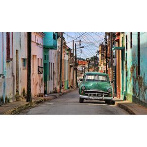 フリー写真, 風景, 建造物, 建築物, 住宅, 街(町), 乗り物, 自動車, クラシックカー, 路地