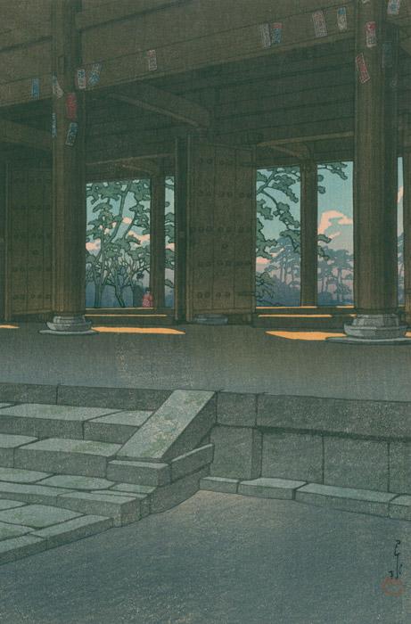 フリー絵画 川瀬巴水作「日本風景集2 関西篇 京都智恩院」