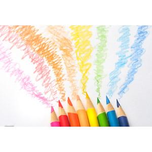 フリー写真, 背景, 画材, 色鉛筆, カラフル