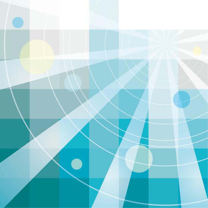 フリーイラスト 円と放射線状の幾何学模様の背景