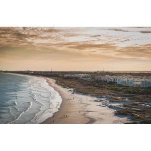 フリー写真, 風景, ビーチ(砂浜), 海, 夕暮れ(夕方), アメリカの風景, フロリダ州