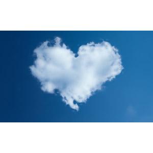 フリー写真, 風景, 空, 雲, ハート