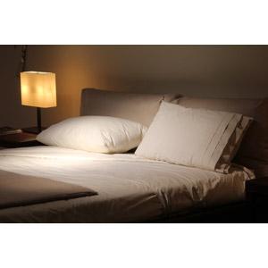 フリー写真, 風景, 部屋, 寝室(ベッドルーム), ベッド, 枕