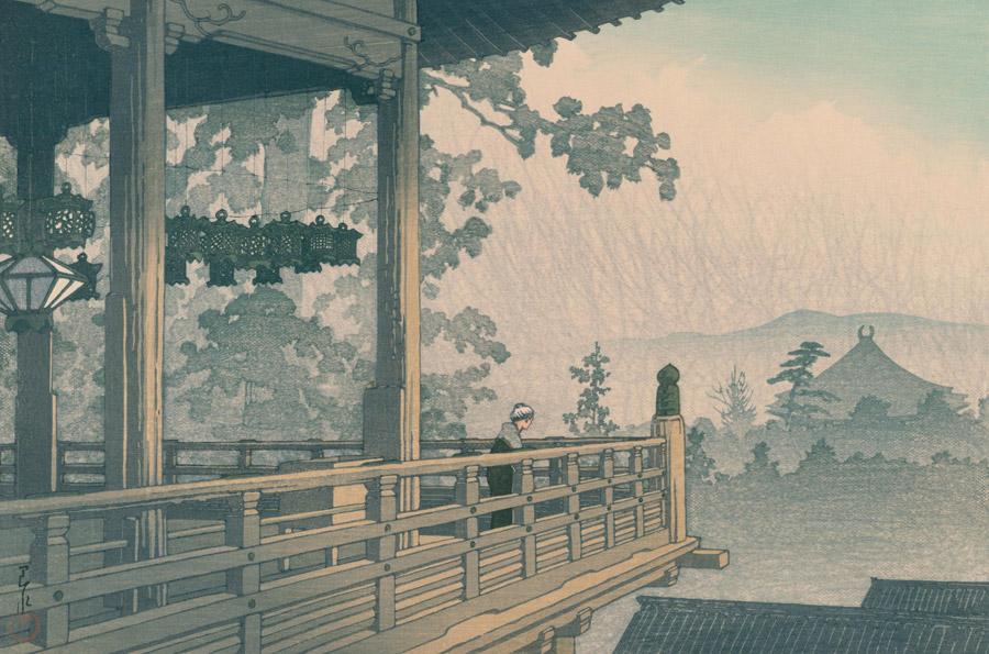 フリー絵画 川瀬巴水作「日本風景集2 関西篇 奈良二月堂」