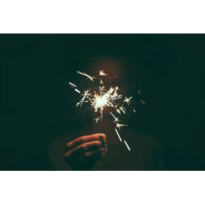 フリー写真, 花火, 火花, 線香花火, 手