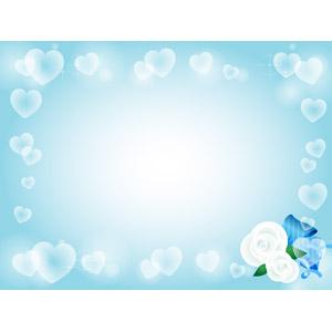 フリーイラスト, ベクター画像, AI, 背景, フレーム, 囲みフレーム, 年中行事, 3月, ホワイトデー, ハート, 薔薇(バラ)