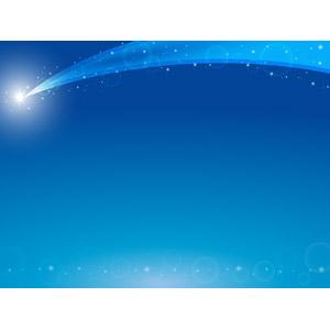 フリーイラスト, ベクター画像, AI, 背景, フレーム, 上下フレーム, 夜空, 流れ星(流星), 星(スター), 玉ボケ, 青色(ブルー)