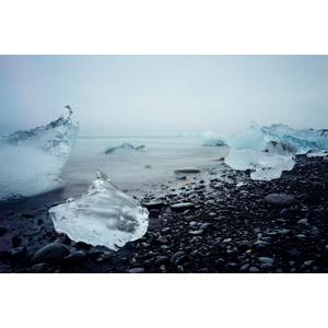 フリー写真, 風景, 自然, 湖, 氷, 流氷, アイスランドの風景, ヨークルスアゥルロゥン