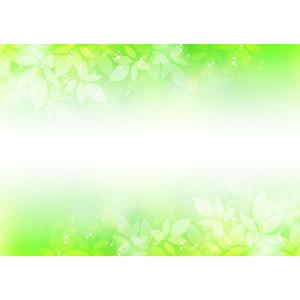 フリーイラスト, ベクター画像, AI, 背景, フレーム, 上下フレーム, 植物, 葉っぱ, 新緑, 緑色(グリーン), 春
