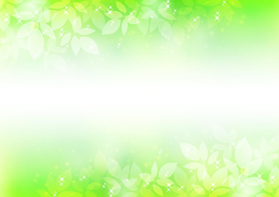 フリーイラスト 新緑の飾り枠
