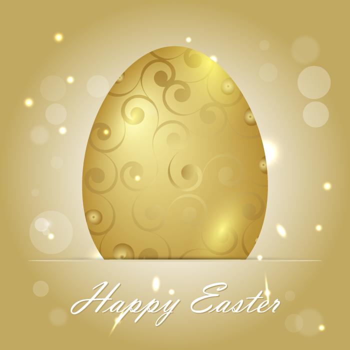 フリーイラスト 金の卵の背景