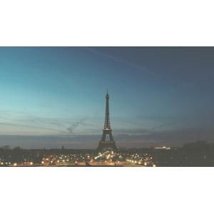 フリー写真, 風景, 建造物, 建築物, エッフェル塔, 都市, 街並み(町並み), フランスの風景, パリ, 日暮れ