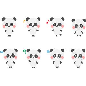 フリーイラスト, ベクター画像, AI, 動物, 哺乳類, ジャイアントパンダ, 泣く(動物), 怒る(動物)