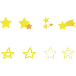 フリーイラスト, ベクター画像, AI, 星(スター), 流れ星(流星)