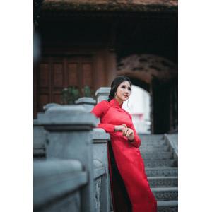 フリー写真, 人物, 女性, アジア人女性, 女性(00168), ベトナム人, アオザイ