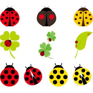 フリーイラスト, ベクター画像, AI, 動物, 昆虫, てんとう虫(テントウムシ)